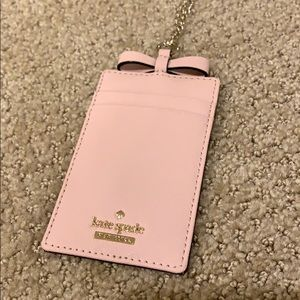 kate spade Accessories - Kate Spade card holder with gold chain